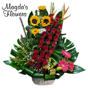 Love in Paradise Floral Basket
