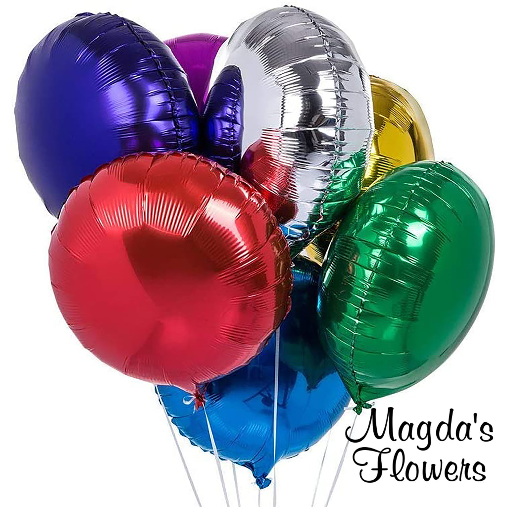 Mylar Balloons - Add balloons to your flower order.