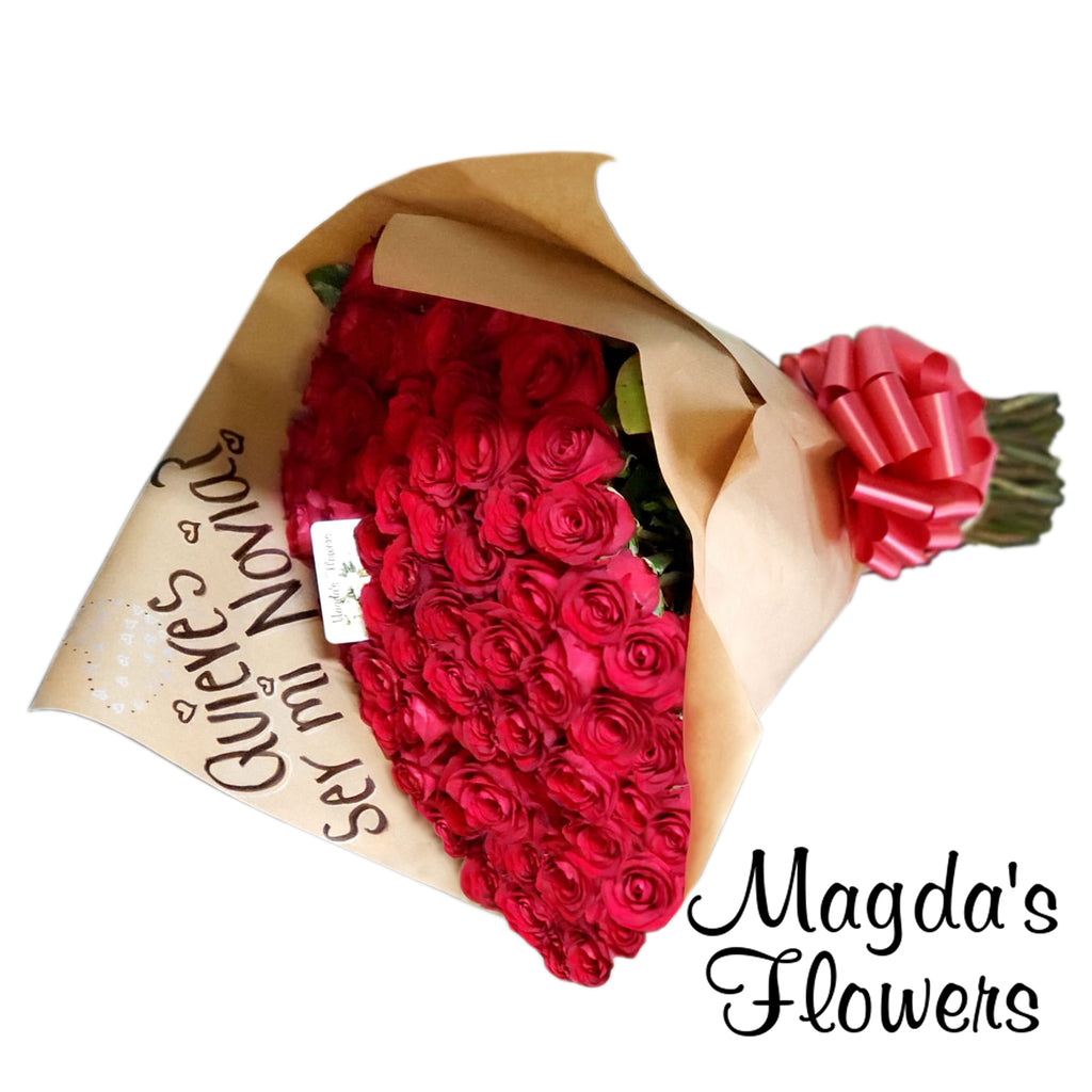 Giant Red Rose Flower Bouqet - Order Flowers Online - Salinas Florist, Local Delivery