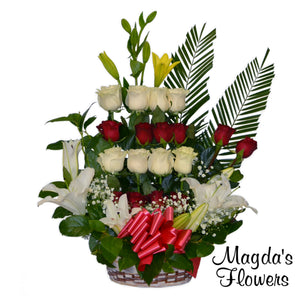 Lovely Tiered Floral Basket