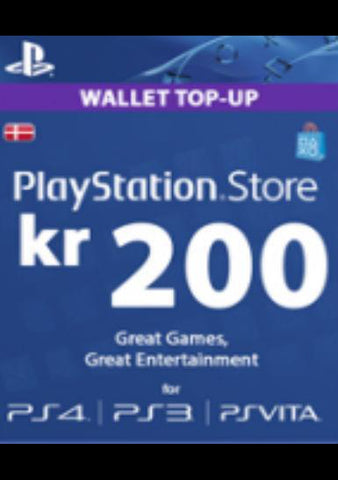 Playstation Network Card (PSN) 200 DKK (Denmark)-caveofcodes