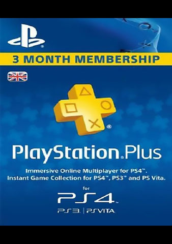 PlayStation Network Card (PSN) 90 Days (United Kingdom)-caveofcodes