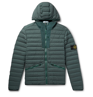 Slim-Fit Quilted Nylon Hooded Down Jacket