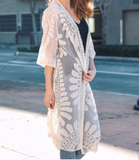 Wilde Moon Lace Embroidered Kimono