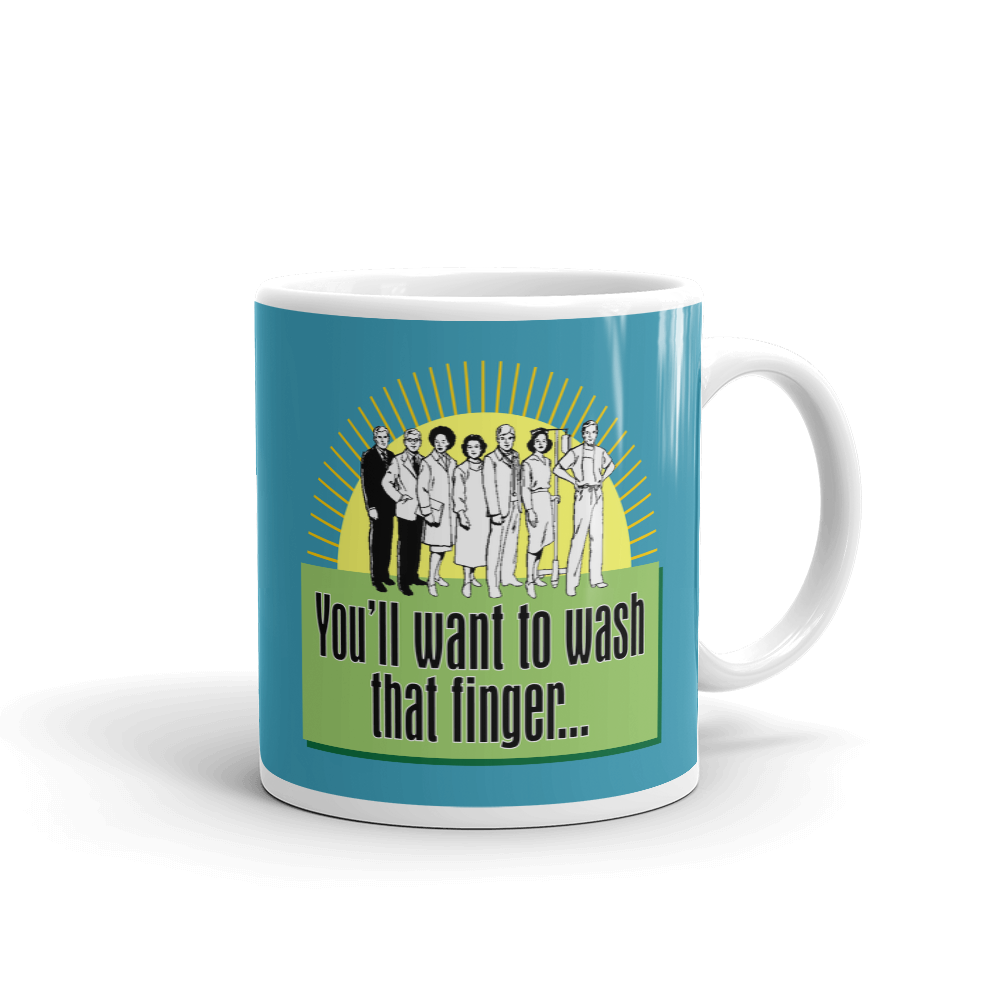 Wash That Finger Ceramic Mug