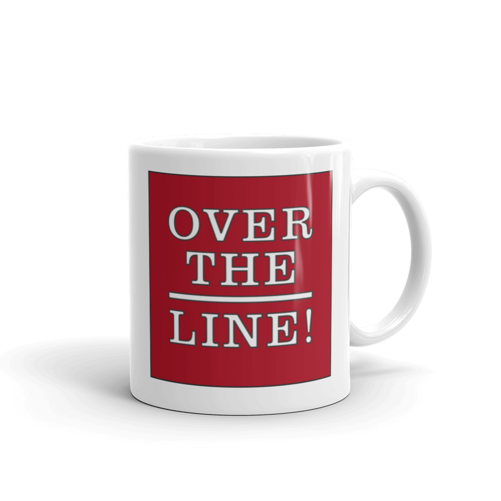 Over the Line Ceramic Mug