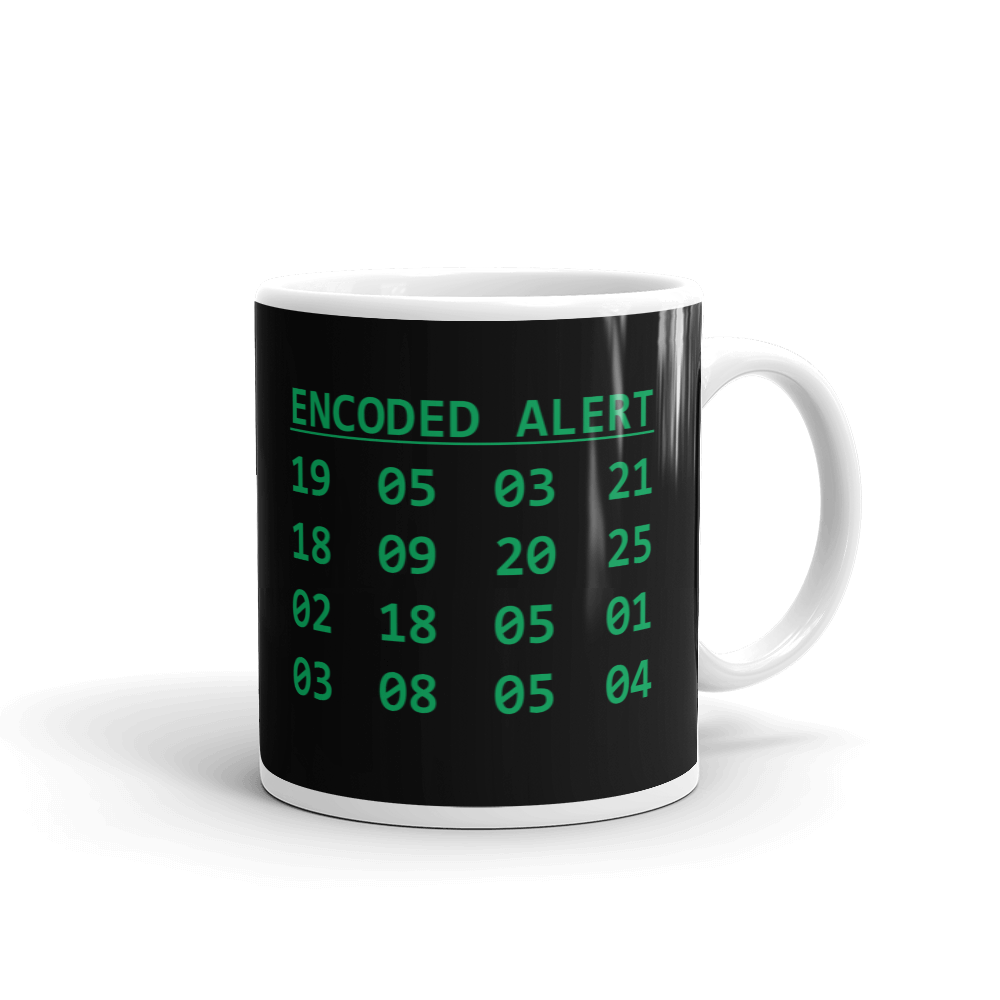 Encoded Alert Ceramic Mug