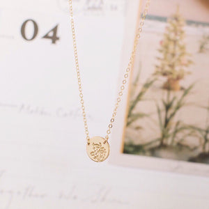 Wild Blooms Mini Zola Disc Necklace