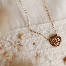 Load image into Gallery viewer, Wild Blooms Mini Zola Disc Necklace