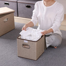 Load image into Gallery viewer, Square cotton  clothing storage box