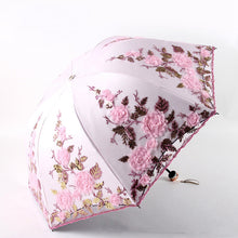 Load image into Gallery viewer, Folding Flower Umbrella Rain