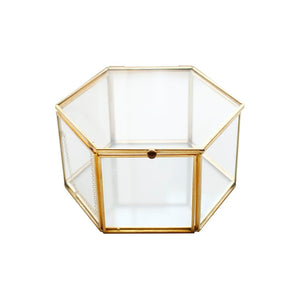 Geometric Clear Glass Box