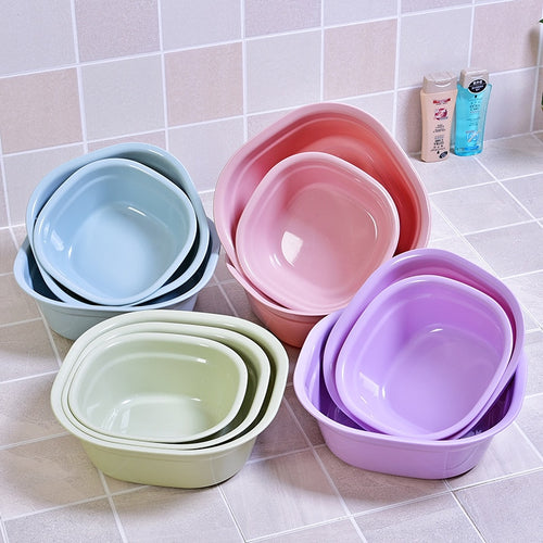 Three sizes plastic wash basin