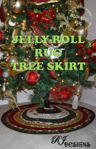 Jelly-Roll Rug Tree Skirt (PDF pattern)