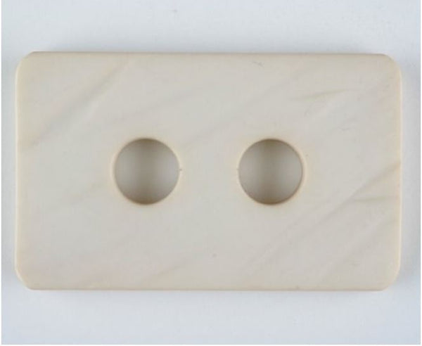 "Huge! Chunky Rectangular Buttons 55mm (over 2-1/8"" wide) by Dill"
