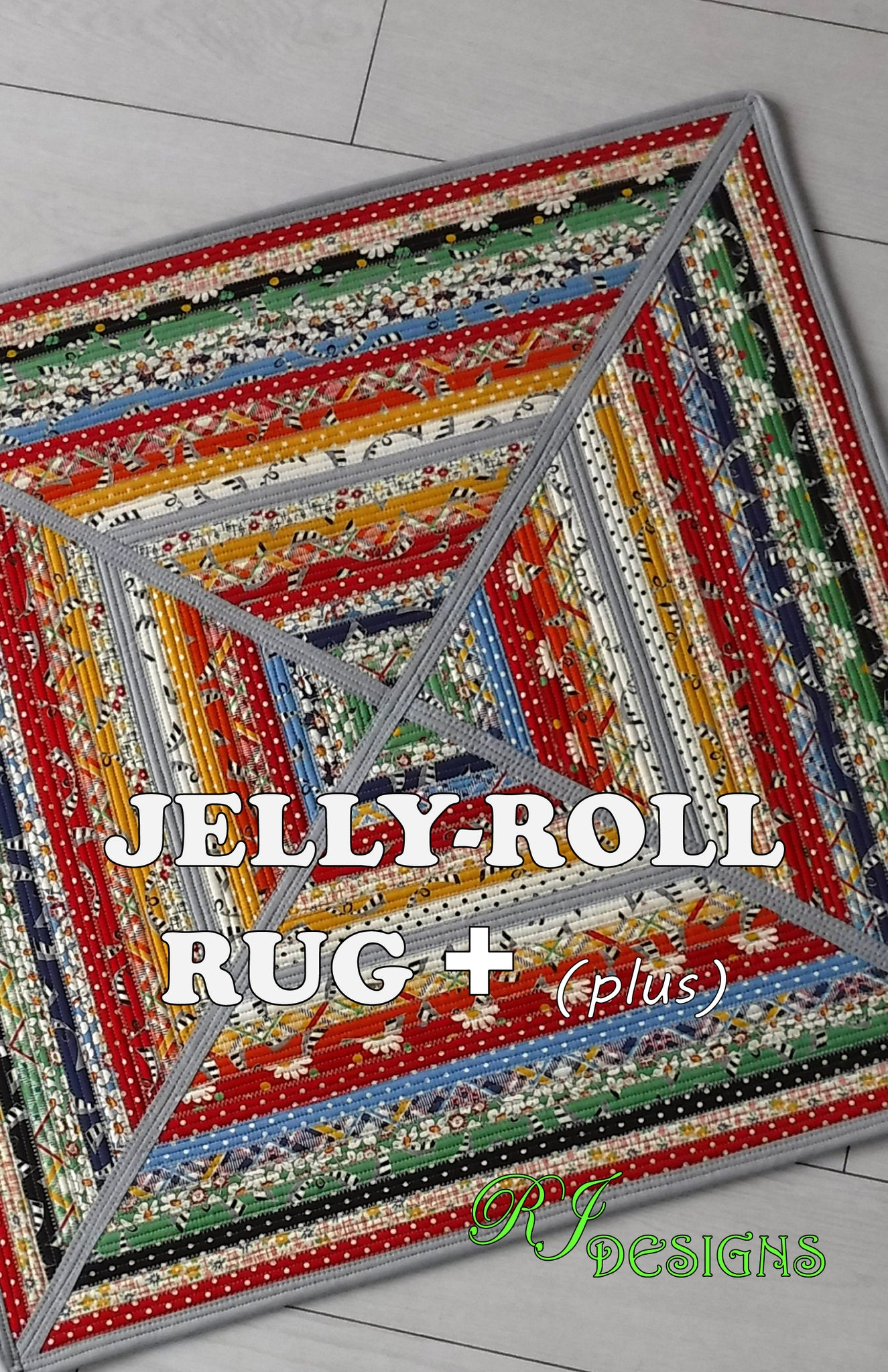 Jelly-Roll Rug+ PLUS (paper pattern)