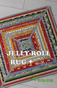 Jelly-Roll Rug+ PLUS (PDF pattern)