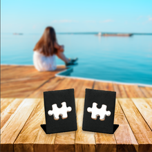 Load image into Gallery viewer, Puzzle Piece Earrings