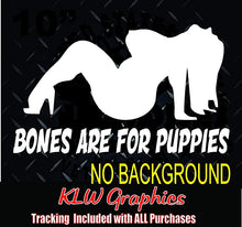 Load image into Gallery viewer, Bones Are For Puppies Vinyl Decal Sticker