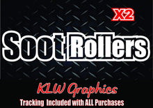 Load image into Gallery viewer, Soot Rollers Vinyl Decal Sticker