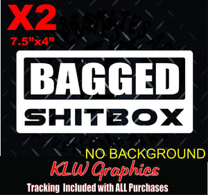 Bagged Shitbox Vinyl Decal Sticker