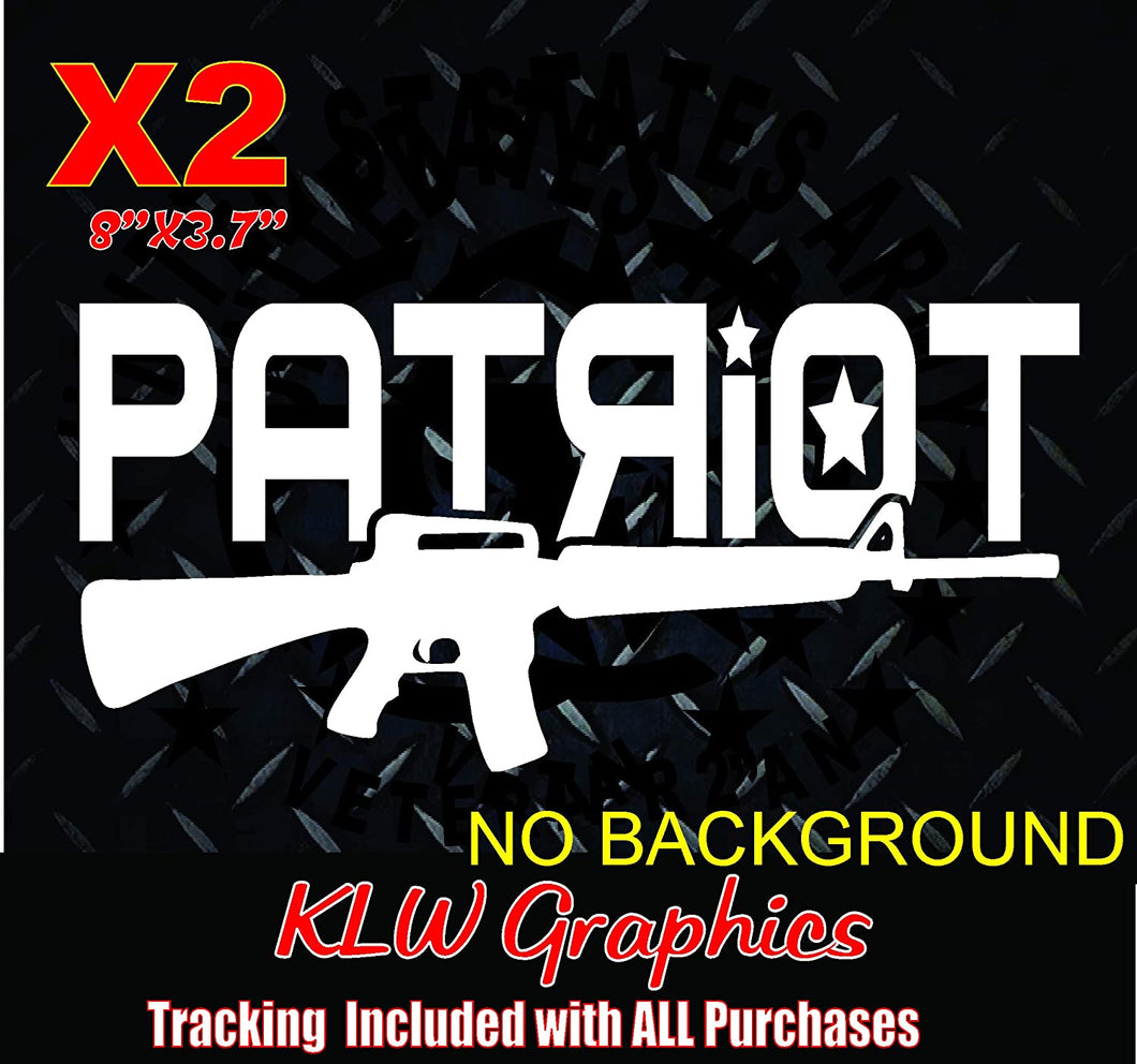 Patriot AR-15 Vinyl Decal Sticker