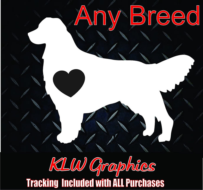 Your Dog Breed Custom Vinyl Decal Sticker