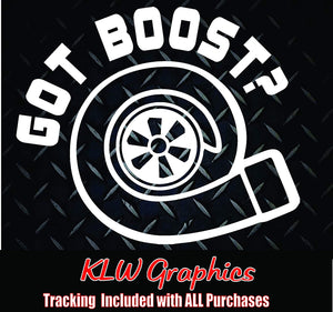 Got Boost Vinyl Decal Sticker