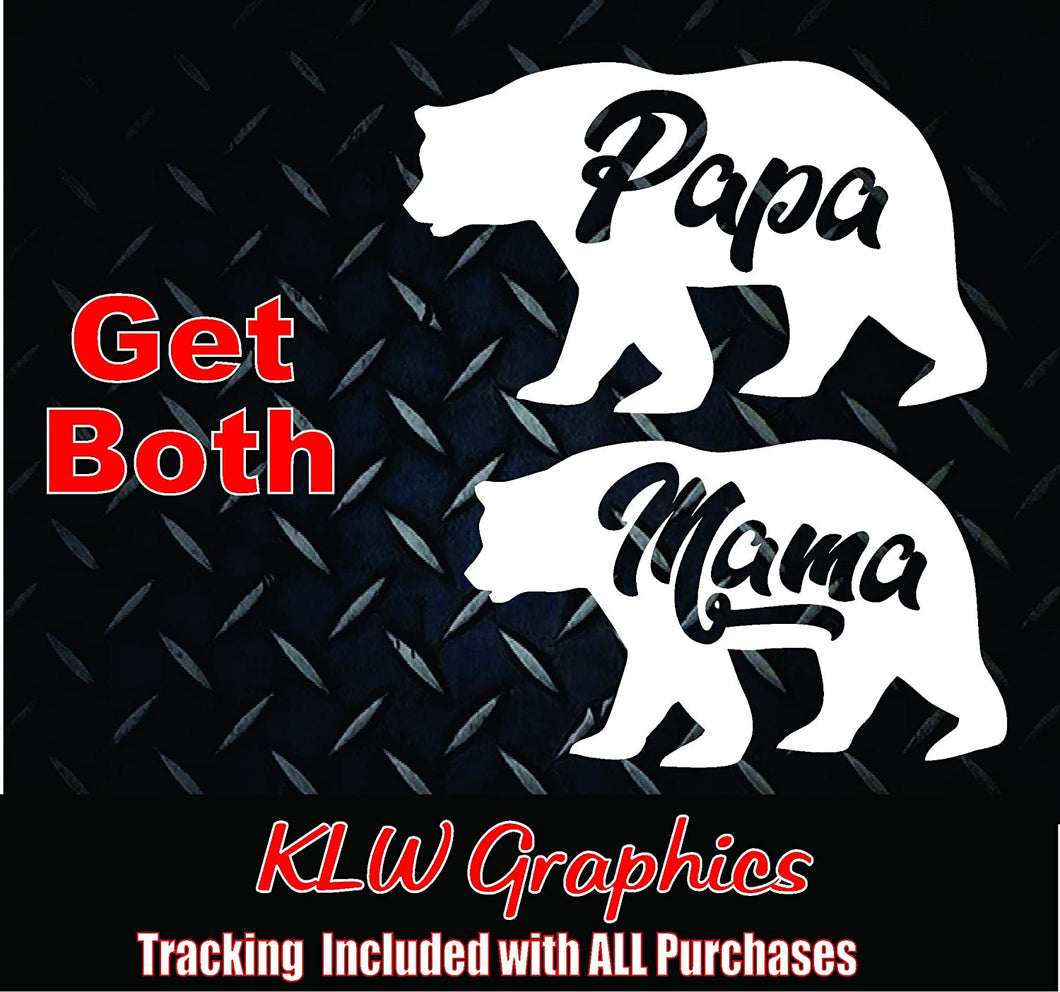 Mama/Papa Bear Set of Vinyl Decals