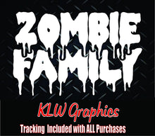 Load image into Gallery viewer, Zombie Family Vinyl Decal Sticker