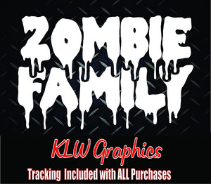 Zombie Family Vinyl Decal Sticker
