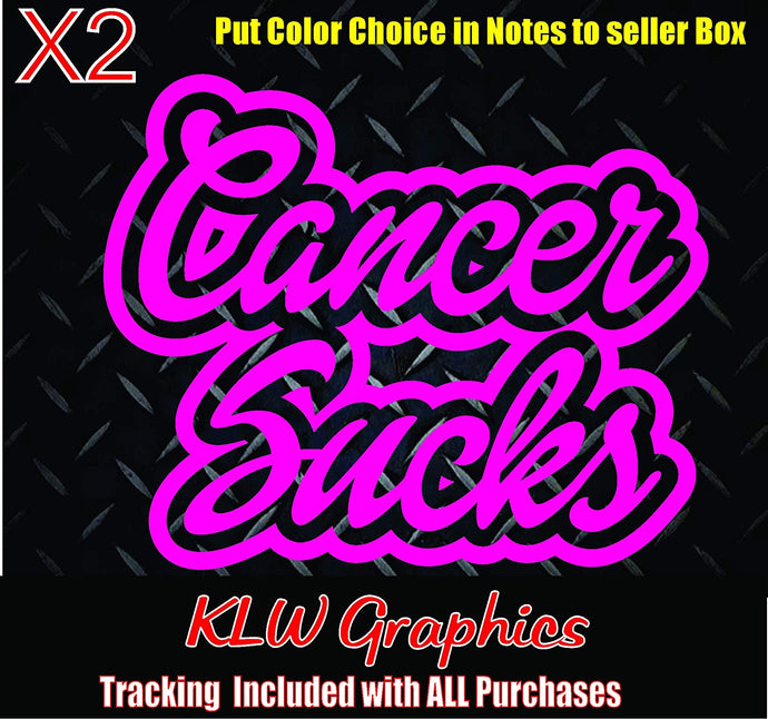 Cancer Sucks Vinyl Decal Sticker