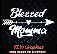 Load image into Gallery viewer, Blessed Momma Arrow Decal