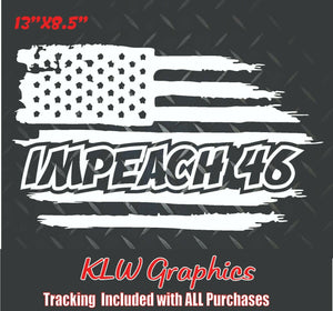 Impeach 46 American Flag Decal