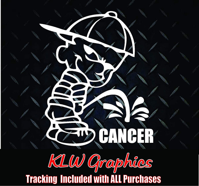Piss On Cancer Vinyl Decal Sticker