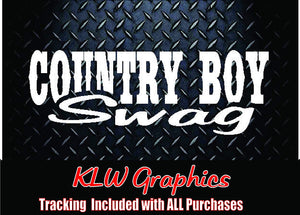 Country Boy Swag Vinyl Decal Sticker