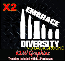 Load image into Gallery viewer, Embrace Diversity Bullet Vinyl Decal