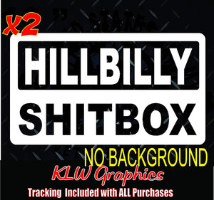 Hillbilly Shitbox Decal Sticker