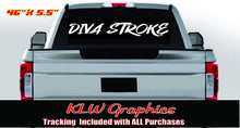 Load image into Gallery viewer, Diva Powerstroke Banner Window Vinyl Decal Sticker