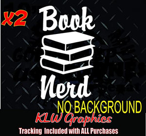 Book Nerd Vinyl Decal Decal Sticker