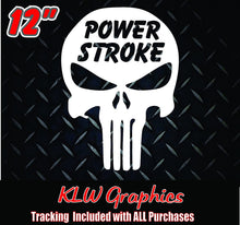 Load image into Gallery viewer, Powerstroke Skull Decal Sticker