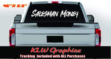 Load image into Gallery viewer, Salesman Money Vinyl Decal Sticker