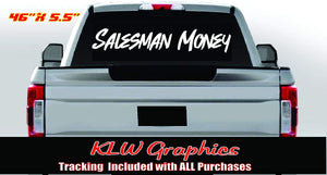Salesman Money Vinyl Decal Sticker