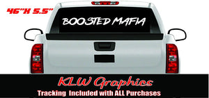 Boosted Mafia Vinyl Decal Sticker