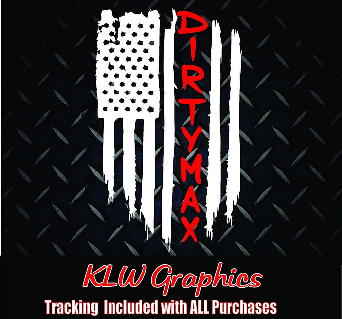 Dirtymax Duramax American Flag Sticker Decal