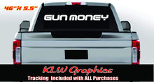 Load image into Gallery viewer, Gun Money Vinyl Decal Sticker