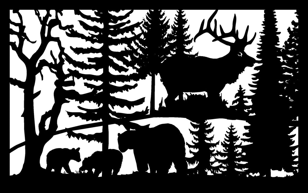 Wildlife #67 - 22 X 36  Three Bears Elk