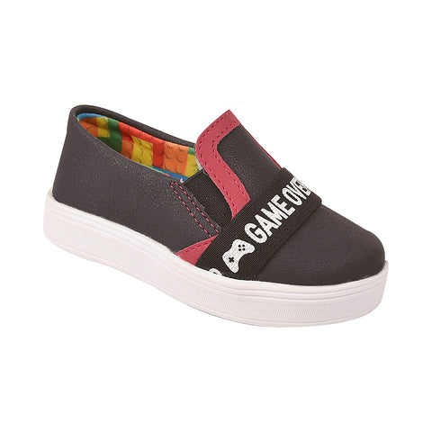 Tênis Infantil Slip On Game Over Preto