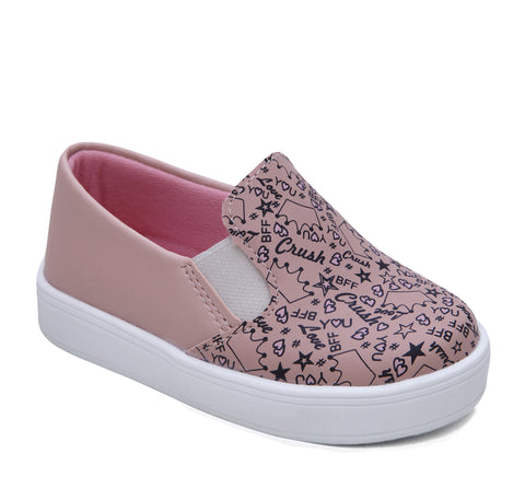 Tênis Infantil Slip On Estampinha Rose