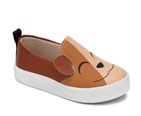 Tênis Infantil Slip On Cachorrinho Bege